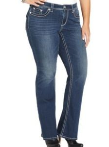 SEVEN7 PLUS SIZE BOOT CUT JEANS STRETCH NEW